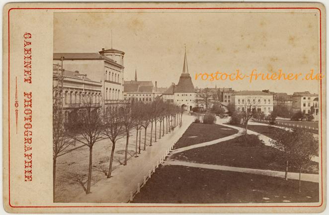 Societät und Steintor, Ende 1870er Jahre. Kabinettformat, Rückseite siehe A2