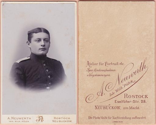 A. Neuwerth, Inh. Wilh. Pölck. Rostock und Neubuckow