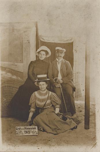 Reuter war auch in Warnemünde aktiv. Postkartenformat