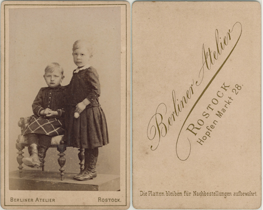 Das Berliner Atelier wurde von Adolfine bzw. Sohn Hans betrieben