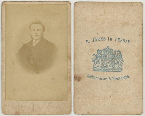 H. Jörns. Hofuhrmacher und Photograph. Visitformat