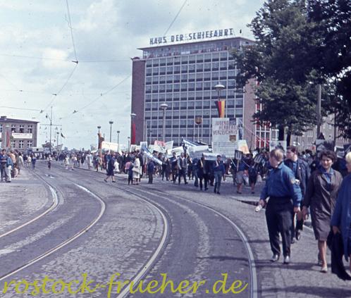 Blick vom Schröderplatz zur Langen Straße