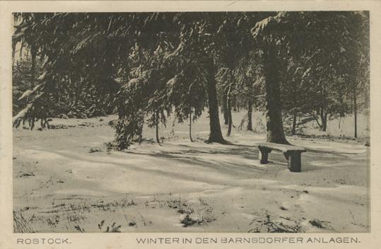 Winter in den Barnsd(!)orfer Anlagen. Ungelaufen