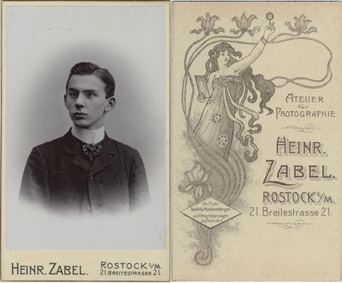 Wilhelm Maurer. Visitformat. Um 1905