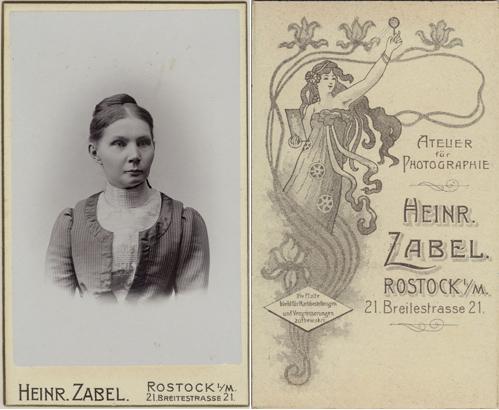 Visitformat. Um 1905