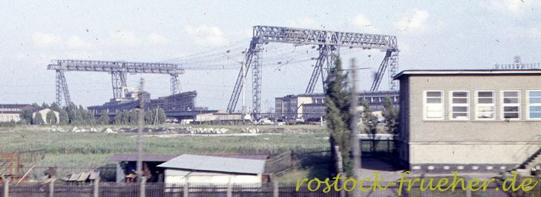 Warnow-Werft. Kabelkrananlage