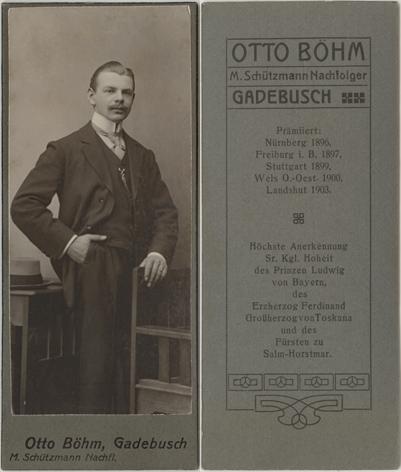 Otto Böhm. M. Schützmann Nachf.