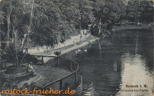 Promenaden-Partie. Nerger Nachf., 1920 gelaufen