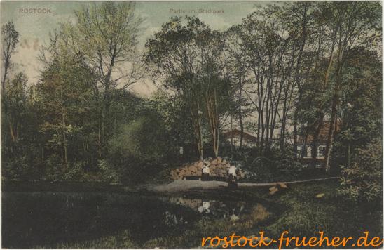 Partie im Stadtpark. 1907 gelaufen