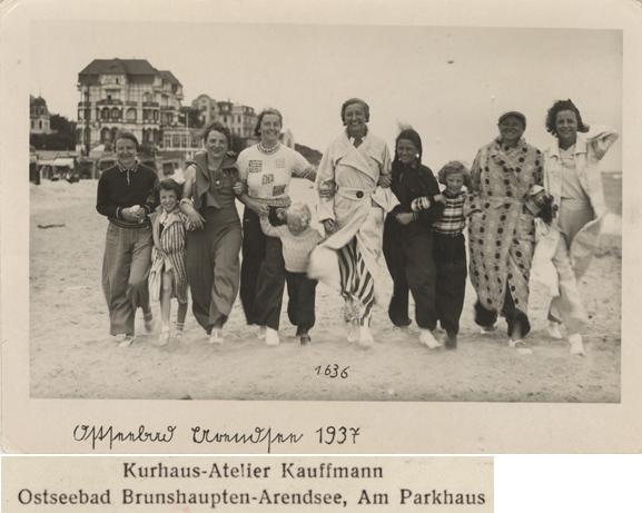 Kurhaus-Atelier Kauffmann Brunshaupten-Arendsee. Ostseebad Arendsee 1937, Fotopostkarte