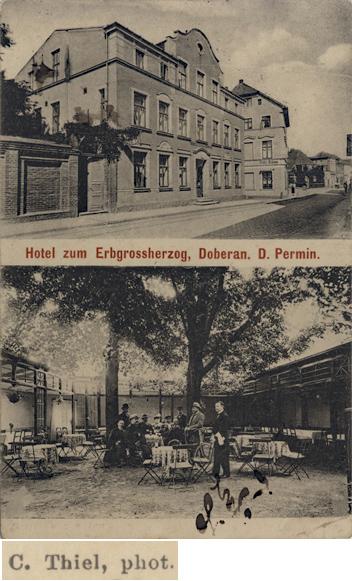 Thiel Hotel Erbgroßherzog, Ansichtskarte, 1913 gelaufen