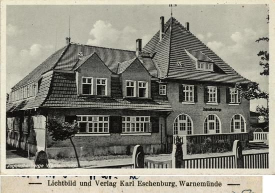Jugendherberge Warnemünde. Ansichtskarte, 1940 gelaufen