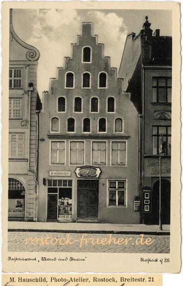 """Restaurant """"Mond und Sterne"""". Ansichtskarte, 1936 gelaufen"""