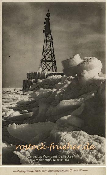 Packeis am Molenkopf, Winter 1929. Ansichtskarte.