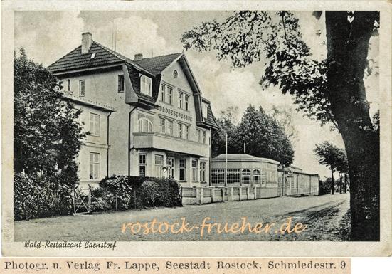 Wald-Restaurant Barnstorf. Ansichtskarte