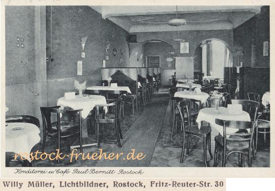 Konditorei und Café Paul Bernitt (Margaretenplatz). Ansichtskarte, 1937 gelaufen