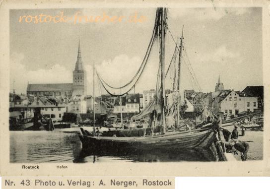 Hafen. Ansichtskarte