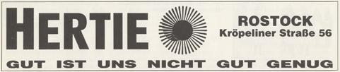 Anzeige aus dem Jahr 1992