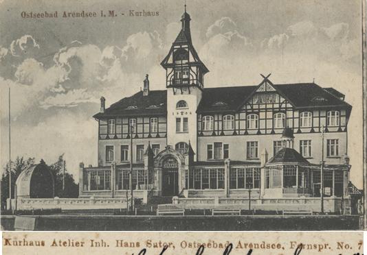 Kurhaus Atelier Inh. Hans Sutor. Ansichtskarte, 1921 gelaufen