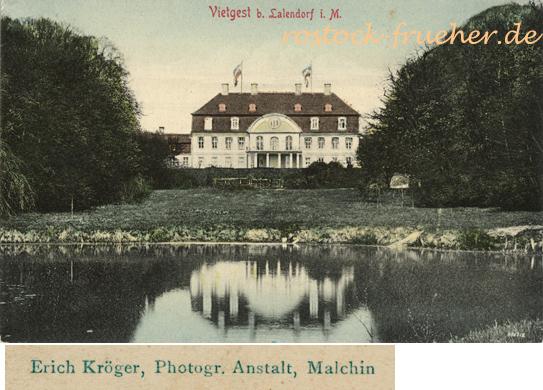 Erich Kroeger, Photogr. Anstalt, Malchin. Vietgest b. Lalendorf i. M.; Ansichtskarte, ungelaufen