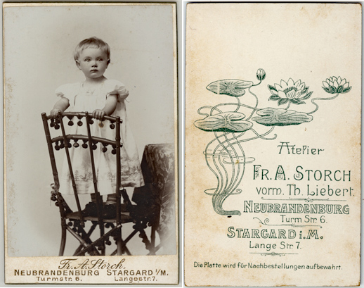 Fr. A. Storch. Neubrandenburg und Stargard. Visitformat
