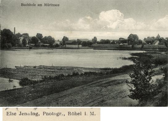 "Else Jenning. ""Buchholz am Müritzsee."" Ansichtskarte, 1925 gelaufen."