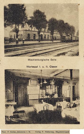 Phot. F. Gabbe, Schwerin i.M.; Bahnhof Hagenow-Land, Ansichtskarte, 1919 gelaufen
