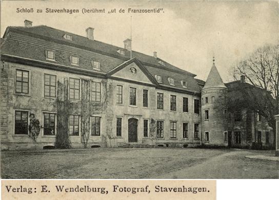 E. Wendelburg. Schloß zu Stavenhagen. Ansichtskarte, ungelaufen