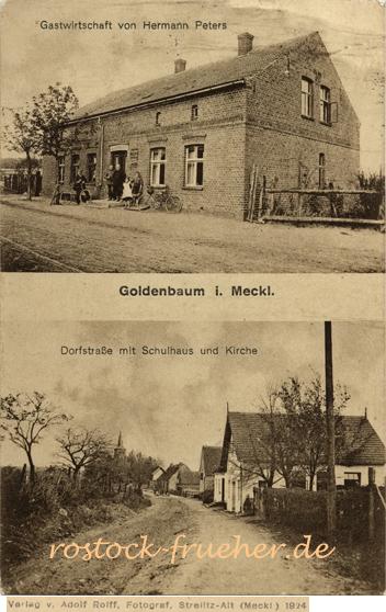 Adolf Rolff, 1924. Goldenbaum i. Meckl.; Ansichtskarte, ungelaufen