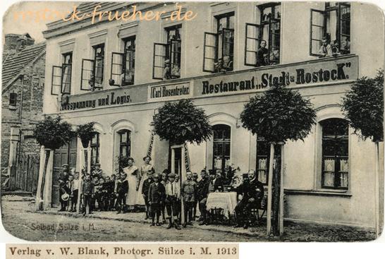 W. Blank, Photogr., 1913; Solbad Sülze i.M.; Ansichtskarte, ungelaufen