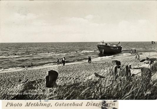 Ostseebad Dierhagen. Strand. Photo Methling, Dierhagen. Ansichtskarte, 1941 gelaufen