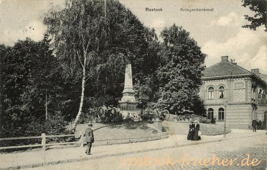 Kriegerdenkmal. 1915 gelaufen